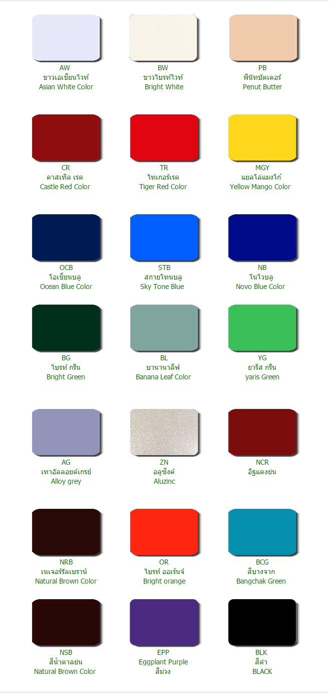 Metal Sheet Color